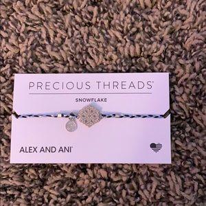Alex and Ani precious threads snowflake bracelet
